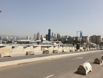 Ορίζοντας του Λιβάνου Βηρυττός στοκ φωτογραφία με δικαίωμα ελεύθερης χρήσης