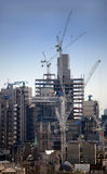 ορίζοντας του Λονδίνου κατασκευής Στοκ Εικόνες