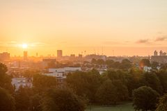 Ορίζοντας του Λονδίνου που βλέπει από το Primrose Hill στοκ εικόνες