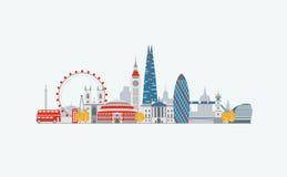 ορίζοντας του Λονδίνου απεικόνισης σχεδίου εσείς διανυσματική απεικόνιση