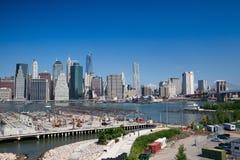 Ορίζοντας του Μανχάταν - Νέα Υόρκη, NYC Στοκ εικόνα με δικαίωμα ελεύθερης χρήσης