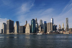 Ορίζοντας του Μανχάταν πόλεων της Νέας Υόρκης Στοκ Εικόνες