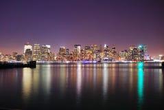 Ορίζοντας του Μανχάτταν πόλεων της Νέας Υόρκης Στοκ φωτογραφία με δικαίωμα ελεύθερης χρήσης