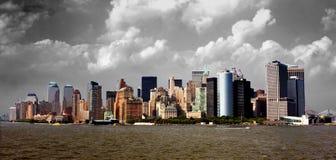 ορίζοντας του Μανχάτταν Στοκ εικόνες με δικαίωμα ελεύθερης χρήσης