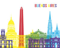 Ορίζοντας του Μπουένος Άιρες λαϊκός Στοκ φωτογραφία με δικαίωμα ελεύθερης χρήσης