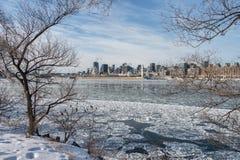 Ορίζοντας του Μόντρεαλ το χειμώνα 2018 Στοκ Εικόνες