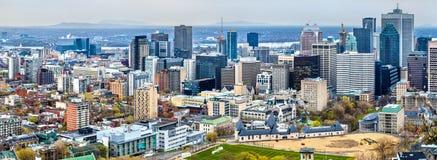 Ορίζοντας του Μόντρεαλ από Mont βασιλικό, Καναδάς Στοκ εικόνες με δικαίωμα ελεύθερης χρήσης