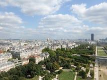Ορίζοντας του Παρισιού από τη Παναγία των Παρισίων Στοκ Φωτογραφίες