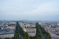 Ορίζοντας του Παρισιού από τη Παναγία των Παρισίων Στοκ εικόνα με δικαίωμα ελεύθερης χρήσης