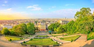 Ορίζοντας του Παρισιού Montmartre Στοκ εικόνα με δικαίωμα ελεύθερης χρήσης