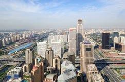 ορίζοντας του Πεκίνου Κίνα αστικός Στοκ εικόνες με δικαίωμα ελεύθερης χρήσης