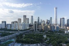 Ορίζοντας του Πεκίνου CBD στοκ φωτογραφία με δικαίωμα ελεύθερης χρήσης