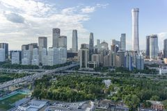 Ορίζοντας του Πεκίνου CBD στοκ εικόνες με δικαίωμα ελεύθερης χρήσης