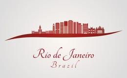 Ορίζοντας του Ρίο de janerio V2 στο κόκκινο ελεύθερη απεικόνιση δικαιώματος