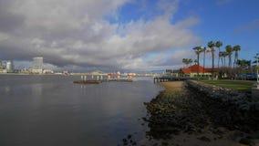 Ορίζοντας του Σαν Ντιέγκο μια ηλιόλουστη ημέρα απόθεμα βίντεο
