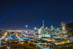 Ορίζοντας του Σαν Φρανσίσκο Στοκ εικόνα με δικαίωμα ελεύθερης χρήσης