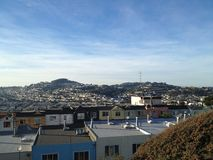 Ορίζοντας του Σαν Φρανσίσκο Στοκ εικόνες με δικαίωμα ελεύθερης χρήσης