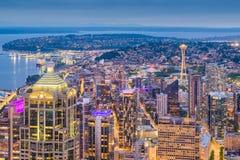 Ορίζοντας του Σιάτλ, Ουάσιγκτον, ΗΠΑ στοκ φωτογραφία με δικαίωμα ελεύθερης χρήσης