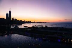 Ορίζοντας του Σικάγου - αποβάθρα ναυτικού Στοκ φωτογραφία με δικαίωμα ελεύθερης χρήσης