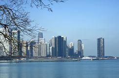 Ορίζοντας του Σικάγου Ιλλινόις Στοκ εικόνες με δικαίωμα ελεύθερης χρήσης