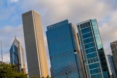 ορίζοντας του Σικάγου Ιλλινόις Στοκ φωτογραφία με δικαίωμα ελεύθερης χρήσης