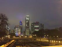 Ορίζοντας του Σικάγου στην εβδομάδα σχεδίων Στοκ φωτογραφία με δικαίωμα ελεύθερης χρήσης
