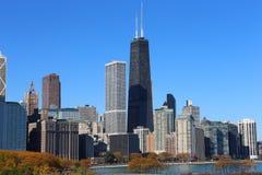 ορίζοντας του Σικάγου φθινοπώρου Στοκ Φωτογραφία