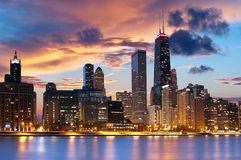 ορίζοντας του Σικάγου Στοκ φωτογραφία με δικαίωμα ελεύθερης χρήσης