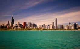 ορίζοντας του Σικάγου Στοκ Φωτογραφία