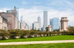 ορίζοντας του Σικάγου &Iot Στοκ φωτογραφία με δικαίωμα ελεύθερης χρήσης