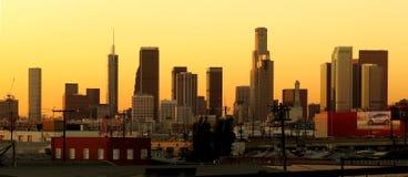 Ορίζοντας του στο κέντρο της πόλης Λος Άντζελες σε Twighlight στοκ φωτογραφία με δικαίωμα ελεύθερης χρήσης