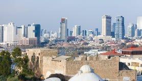 Ορίζοντας του Τελ Αβίβ, Ισραήλ στοκ εικόνα