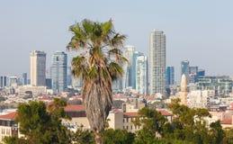 Ορίζοντας του Τελ Αβίβ, Ισραήλ στοκ φωτογραφίες