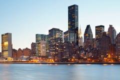 Ορίζοντας του της περιφέρειας του κέντρου Μανχάταν στην πόλη της Νέας Υόρκης Στοκ εικόνα με δικαίωμα ελεύθερης χρήσης