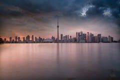 Ορίζοντας του Τορόντου στο Οντάριο Καναδάς στοκ εικόνα με δικαίωμα ελεύθερης χρήσης