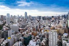 Ορίζοντας του Τόκιο/εικονική παράσταση πόλης, σύγχρονο κτίριο γραφείων cityscpae vie Στοκ Εικόνες