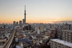 Ορίζοντας του Τόκιο σε Asakusa Στοκ Εικόνες