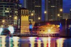 Ορίζοντας του δυτικού Palm Beach τη νύχτα Στοκ Εικόνες