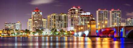 Ορίζοντας του δυτικού Palm Beach στοκ εικόνες