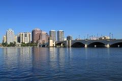 Ορίζοντας του δυτικού Palm Beach Στοκ φωτογραφία με δικαίωμα ελεύθερης χρήσης