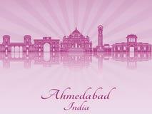 Ορίζοντας του Ahmedabad στην πορφυρή ακτινοβόλο ορχιδέα Στοκ φωτογραφίες με δικαίωμα ελεύθερης χρήσης