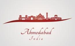 Ορίζοντας του Ahmedabad στο κόκκινο Στοκ φωτογραφία με δικαίωμα ελεύθερης χρήσης