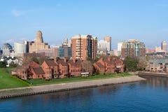Ορίζοντας του Buffalo Νέα Υόρκη στοκ εικόνες