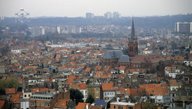 ορίζοντας των Βρυξελλών στοκ εικόνες