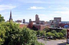 Ορίζοντας των στο κέντρο της πόλης Συρακουσών Νέα Υόρκη στοκ εικόνα με δικαίωμα ελεύθερης χρήσης