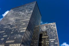 Ορίζοντας των ψηλών κτηρίων WTC με το γυαλί στις Βρυξέλλες, Βέλγιο Στοκ φωτογραφίες με δικαίωμα ελεύθερης χρήσης