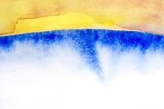Ορίζοντας υποβάθρου Watercolor Στοκ φωτογραφία με δικαίωμα ελεύθερης χρήσης
