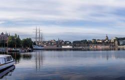 Ορίζοντας φωτός της ημέρας της Στοκχόλμης Στοκ φωτογραφία με δικαίωμα ελεύθερης χρήσης