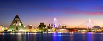 Aomori, ορίζοντας της Ιαπωνίας Στοκ Εικόνες
