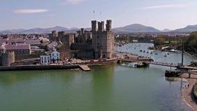 Ορίζοντας Caernarfon, Gwynedd στην Ουαλία - το Ηνωμένο Βασίλειο φιλμ μικρού μήκους